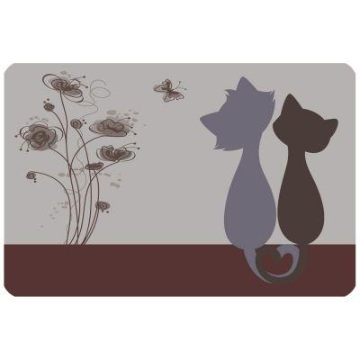 Voerbak Placemat Loving Cats - 43 x 28